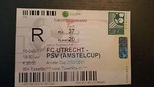 Sammler Used Ticket / Entrada FC Utrecht v PSV 15-04-2003 Amstel Cup Semi Final