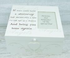 Personalised Memory Keepsake Box If Tears Could Build A Stairway Large F1077/P