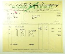 1925 L. E. Waterman Company INK Invoice