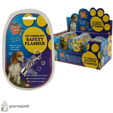 2 x Hi-Visibility Dog, Puppy and Cat Safety Flasher