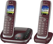 Panasonic KX-TGJ322GR Weinrot Festnetz-Telefon, Analog, intgr. AB, +1 Mobilteil