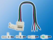 4x 10mm RGB Anschlusskabel | Offenes Ende auf Klemmverbinder | Schnellverbinder