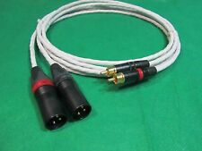 3' FT PURE SILVER PLATED MIL-SPEC RCA TO BALANCED XLR MALE INTERCONNECT CABLE.
