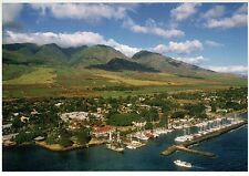 Lahaina Harbor and Town, Maui, Hawaii, Banyan Tree Planted in 1873 --- Postcard