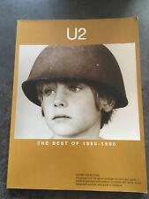Livre PARTITION U2 THE BEST OF 1980 - 1990   G41