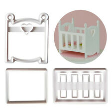 Baby cot Plastic Cookie Cutter Fondant Cutter Cake Mold Cake Decorating Tool LR