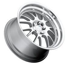 "18X9.5 +15 TO +45 Klutch SL14 5x114.3 Silver Machined Wheel RIMS 3"" LIP SET OF 4"