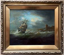 19th century English School oil painting on canvas unsigned framed