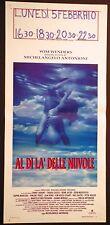 Locandina AL DI LA' DELLE NUVOLE 1°ED.IT.1995 ARDANT MARCEAU SASTRE MASTROIANNI
