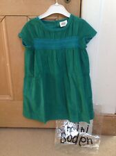 NEW Boden Dress, 4-5y,  - Smocked Green Corduroy