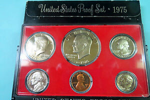 """1976-S  EISENHOWER DOLLAR 6-COIN """"PROOF"""" SET, San Francisco Mint in Display Case"""