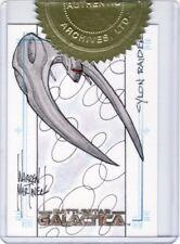 Battlestar Galactica Premiere Warren Martineck / Cylon Raider Sketch Card