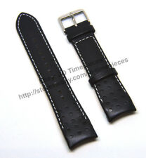 Comp Seiko Sportura SNAE80J1 - SNAE80J1 - 21mm Black Leather Watch Band Strap