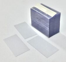 """Pack of 2,000 - Grocery Liquor Retail Clear Plastic Shelf Strips 2.25"""" x 1.25"""""""