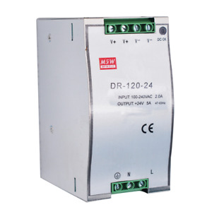 Industrial DIN Rail Power Supply DR-120-24V 120W Single Output 24V Power Supply