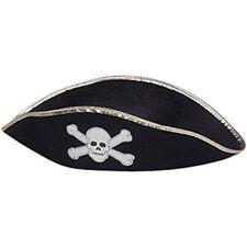 Pirate Felt Permafelt Costume Accessory Hat Gold Trim - 3 Sizes 1f2f2a03a689