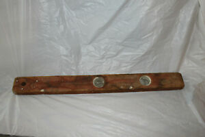 Antique 24 Inch Wood Level with 2 Vials