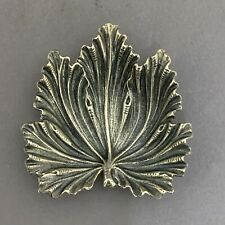 Gianmaria Buccellati Sterling Silver Figural Acanthus Leaf Dish Italy 925