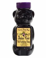 Shadow River Wild Huckleberry Gourmet Honey 12 oz Squeeze Bear
