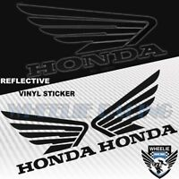 GAS FUEL TANK FAIRING DECAL GLOSSY VINYL WING LOGO VINYL STICKER FOR HONDA BLACK