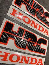 Aufkleberset 4tlg Gr.2 Honda HRC Racebikes Fireblade CBR 1000 600 Neonrot-Carbon