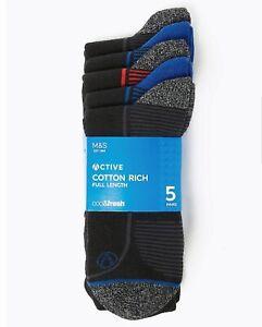 M/&S 2 X Mens 3 Packs Socks Rrp £15//pack =6 Pairs 10-12