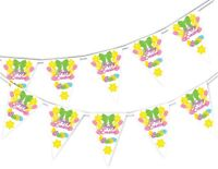 Happy Easter - Ribbon - Bunting Banner 15 flags by PARTY DECOR