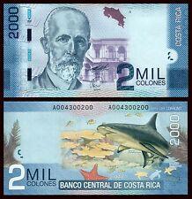 Costa Rica   2000 Colones  2-9-2009  Pick 275a  SC = UNC