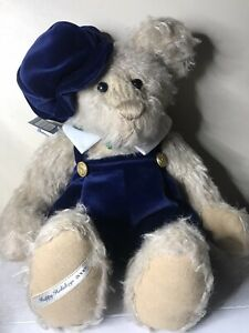 """Pamela Wooley Teddy bear Plush Jointed Numbered Holiday 2000 18"""" Christmas"""