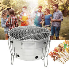 Foldable Portable BBQ Barbecue Grill Camping Picnic Stove Stainless Steel Oven