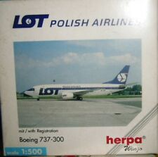 BOEING 737-700 LOT POLISH AIRLINES scala 1/500 HERPA (511926)