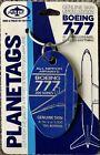 PLANETAGS : ALL NIPPON : BOEING 777-200 AIRCRAFT SKIN : AVIATION (DARK BLUE TAG)