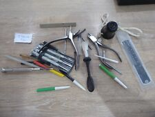 USEFUL LOT OF VINTAGE TOOLS FOR THE WATCHMAKER