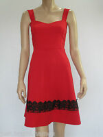 Crossroads Ladies Sleeveless Fit & Flare Dress sizes 8 10 14 16 Colour Red