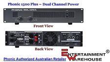 Phonic MAX 1500  - 1500 Watt Power Amplifier