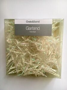 Icicle Garland Clear Reflective Crate & Barrel New