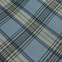Perry Ellis Portfolio Necktie Tie Blue Yellow Grey Plaid Silk R108 - BOGO FREE