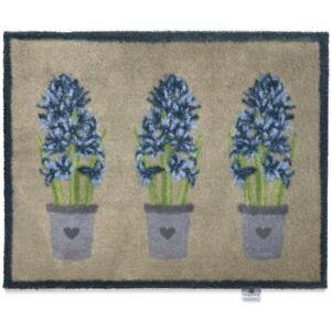 Fabulous Hyacinth Design Eco-Friendly Hug Rug Indoor Mat with Heart Design