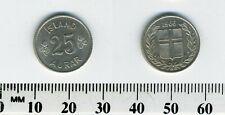 Iceland 1966 - 25 Aurar Copper-Nickel Coin