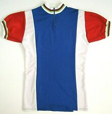 Bicycle Jersey Made in Belgium Vintage Cycling Rare Red Blue White