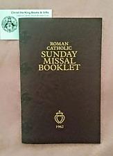 Roman Catholic Sunday Missal Booklet-1962 Tridentine Latin Mass & Benediction