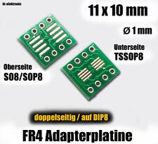 10 Stück SO8 SOIC8 TSSOP8 auf DIP8 Adapterplatine 0,635mm und 1,27mm Rastermaß