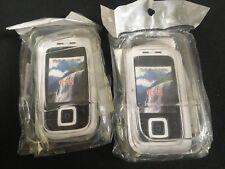 2 x cristalli chiari custodie in plastica rigida copre CONCHIGLIE-TELEFONO CELLULARE NOKIA 6111