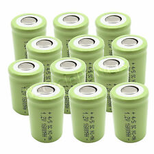 12 NiMH Ni-MH 4/5 SubC Sub C SC 1.2V 1600mAh Rechargeable Battery Cell Green