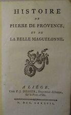 J. Castilhon: LA BELLE MAGUELONNE / ROBERT LE DIABLE / RICHARD SANS PEUR, 1787