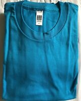 American Apparel Men's T-Shirt 100% Combed Cotton Slim Fit New - Teal