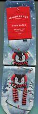 2 Pairs NEW Target Wondershop Women's/Girl's Glitter Penguin Crew Socks 1 Size