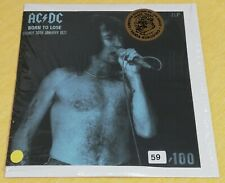 "AC/DC  Ultra-Rare Yellow Vinyl Double LP ""BORN TO LOSE"" (LIVE'77)  SUPERB !!!"