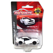 Ford Mustang GT Majorette Pearl White & Black stripes Diecast Car 204C 1:64