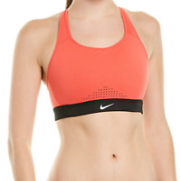 Nike Ember Glow & Black Impact High-Support Sports Bra Women's Size S 10221